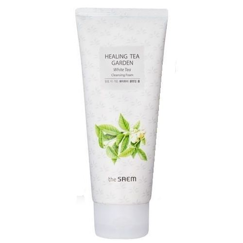 Пенка The Saem Healing Tea Garden White Tea Cleansing Foam пенка the face shop green tea phyto powder cleansing foam объем 170 мл