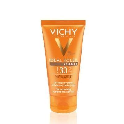 Набор: Гель VICHY Увлажняющий флюид-гель SPF 30 vichy увлажняющий спрей активатор для тела capital ideal soleil spf30 200мл пляжная сумка в подарок