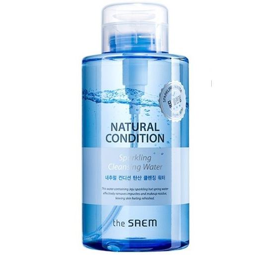 Вода The Saem Natural Condition Sparkling Cleansing Water 500 мл the yeon canola honey polish water вода увлажняющая для лица 270 мл