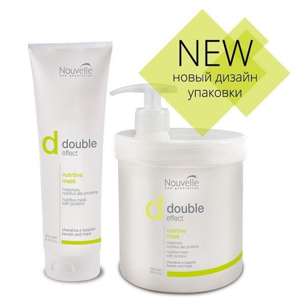 Маска Nouvelle Double Effect Nutritive Mask  500 мл краска для волос nouvelle decoflash 500 гр