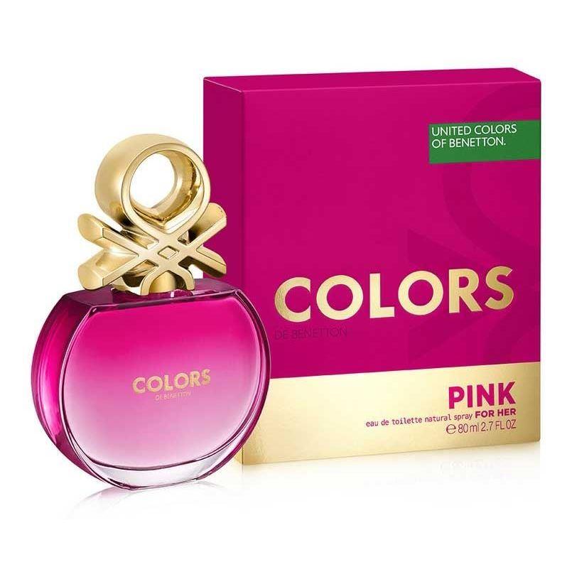 Туалетная вода Benetton Colors Pink 80 мл lacoste туалетная вода dream of pink 15 ml