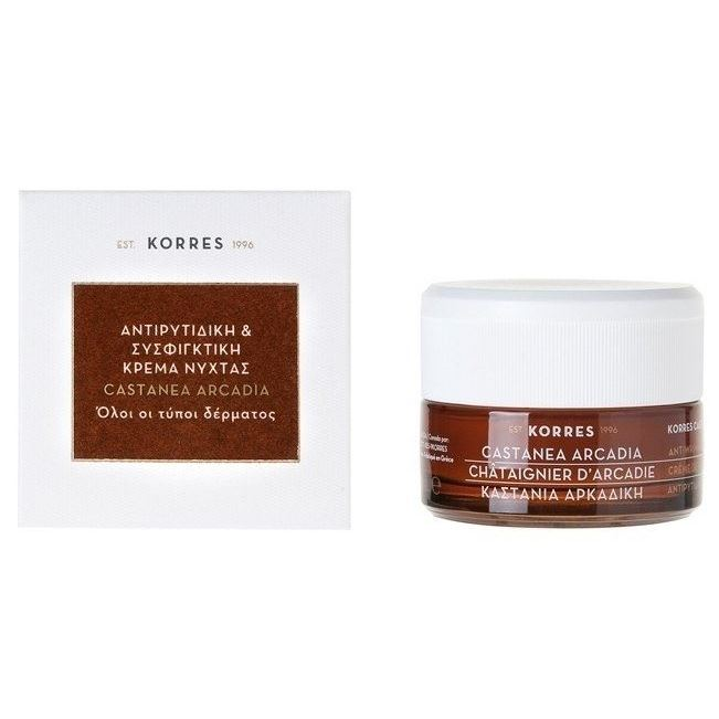 Дневной уход Korres Castanea Arcadia Day Cream 40 мл korres крем маска с дикой розой для интенсивного ночного восстановления 40 мл korres увлажняющие средства