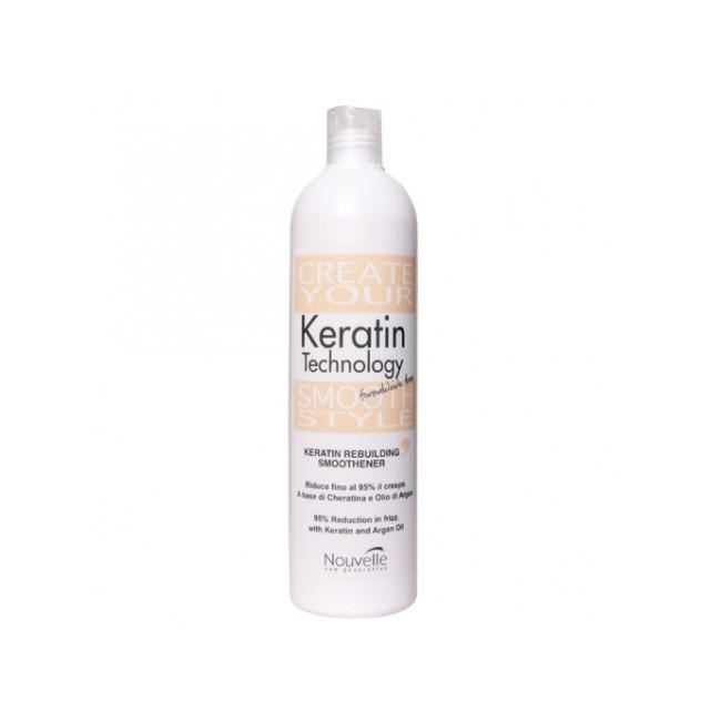 Концентрат Nouvelle Keratin Rebuilding Smoothener концентрат nouvelle keratin reloading solution with argan oil
