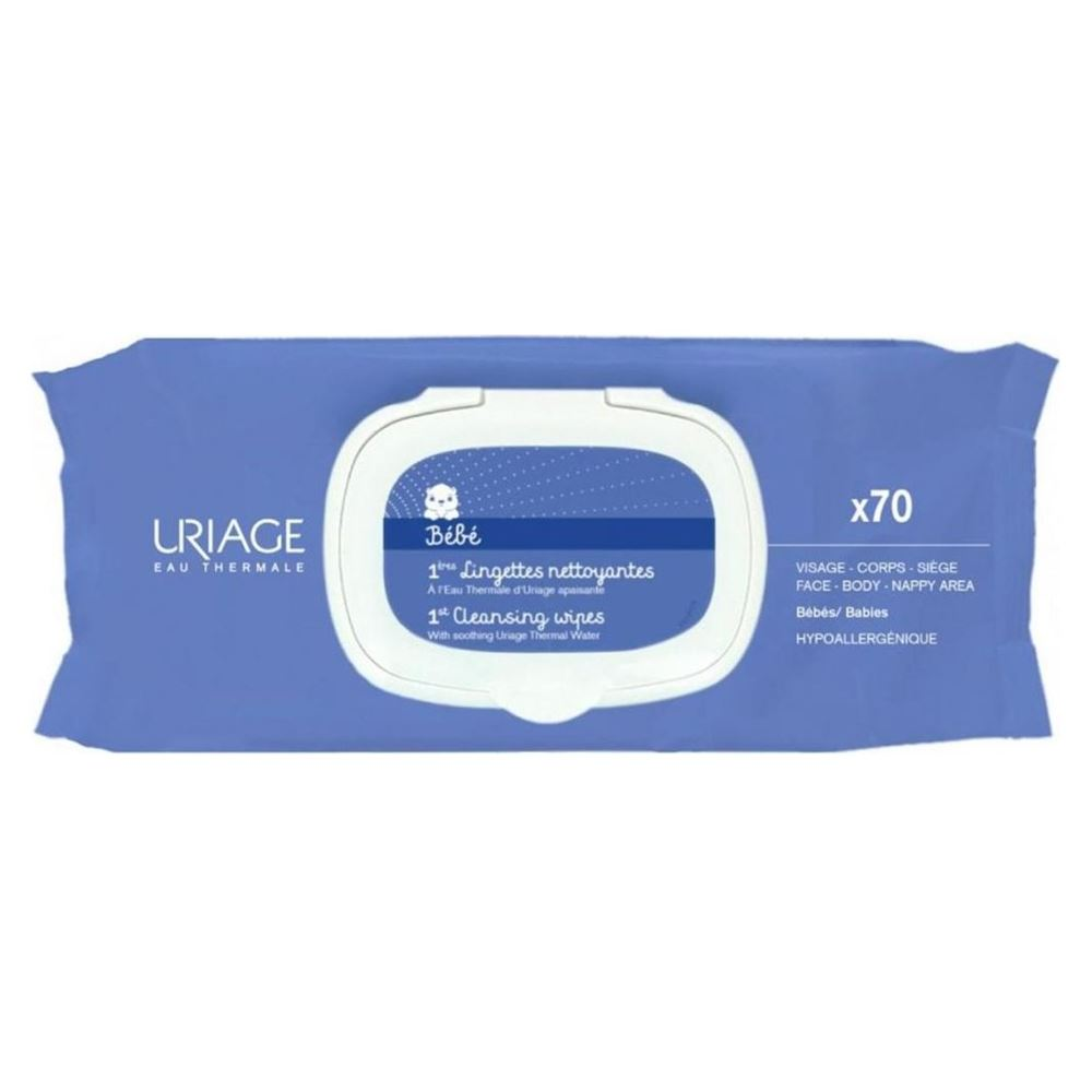 Салфетки Uriage Bebe 1st Cleansing Wipes (70 шт) пенка uriage gyn phy intimate cleansing mist without rinsing