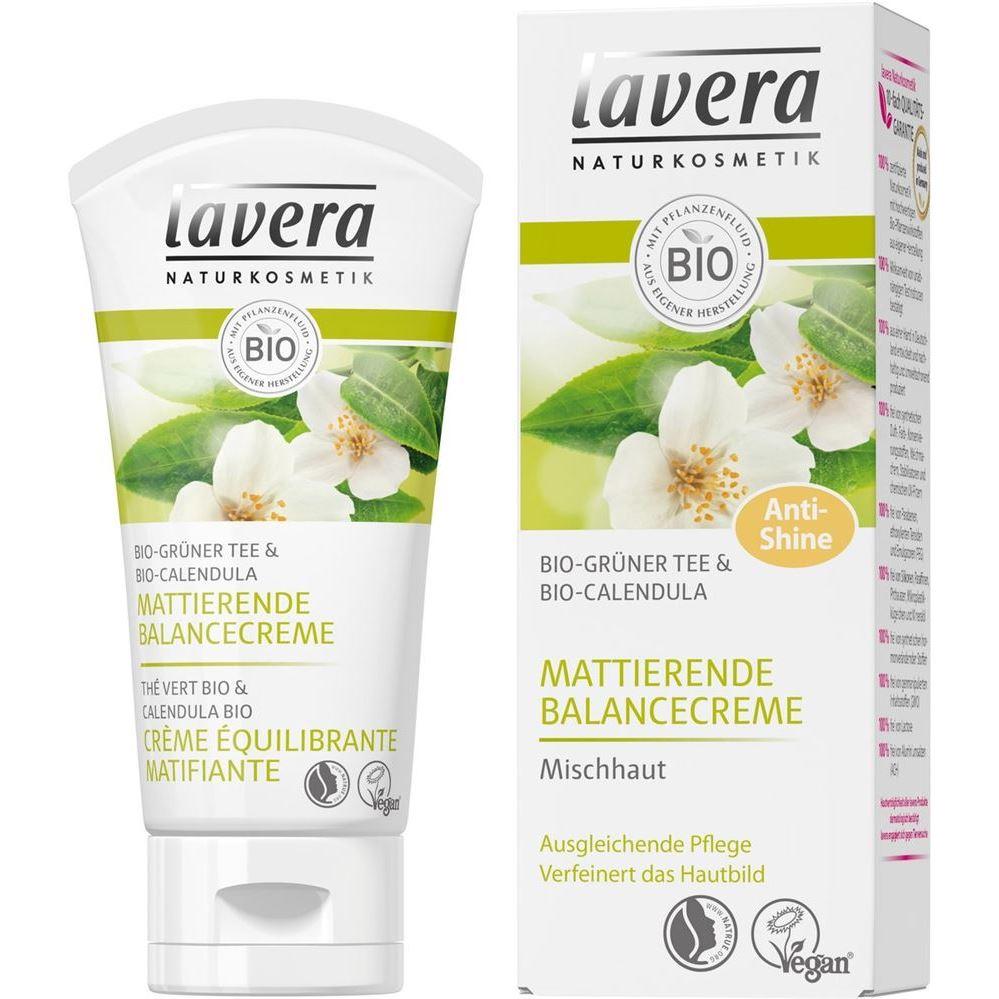 Крем Lavera Green Tea. Mattifyng Balancing Cream