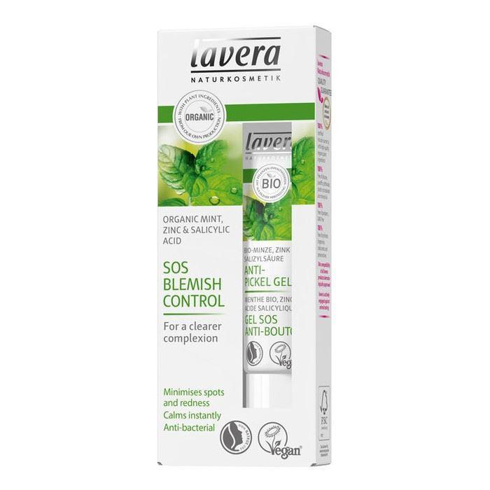 Гель Lavera SOS Blemish Control Organic Mint, Zinc & Salicylic acid for clearer complexion  15 мл