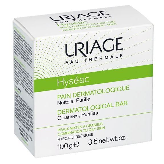 Мыло Uriage Hyseac Dermatological Bar For Combination To Oily Skin (100 г) гель uriage extra rich dermatological gel 1000 мл