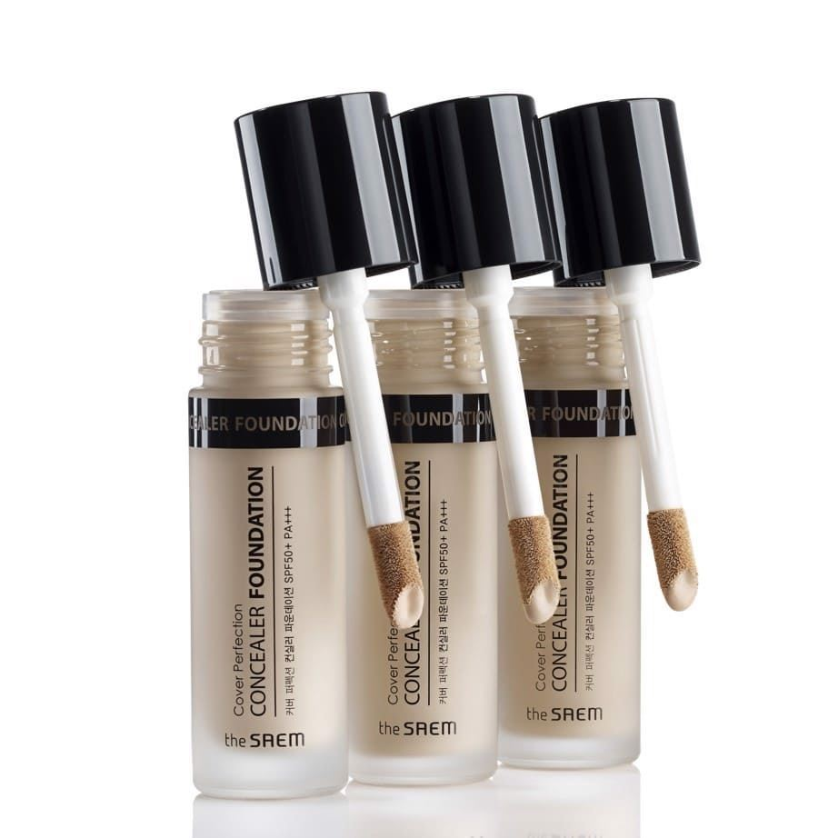 Корректоры The Saem Cover Perfection Concealer Foundation (SPF50+ PA+++) (1.5) консилер the saem cover perfection tip concealer 02 цвет 02 rich beige variant hex name e3c69d