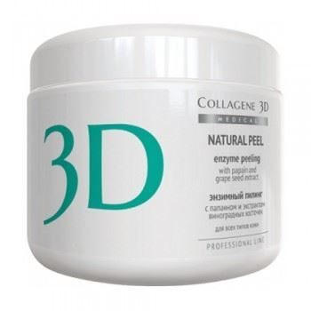 Пилинг Medical Collagene 3D Natural Peel (150 г) medical collagene 3d энзимный пилинг c коллагеназой medical collagene 3d natural peel enzyme peeling 26005 150 мл