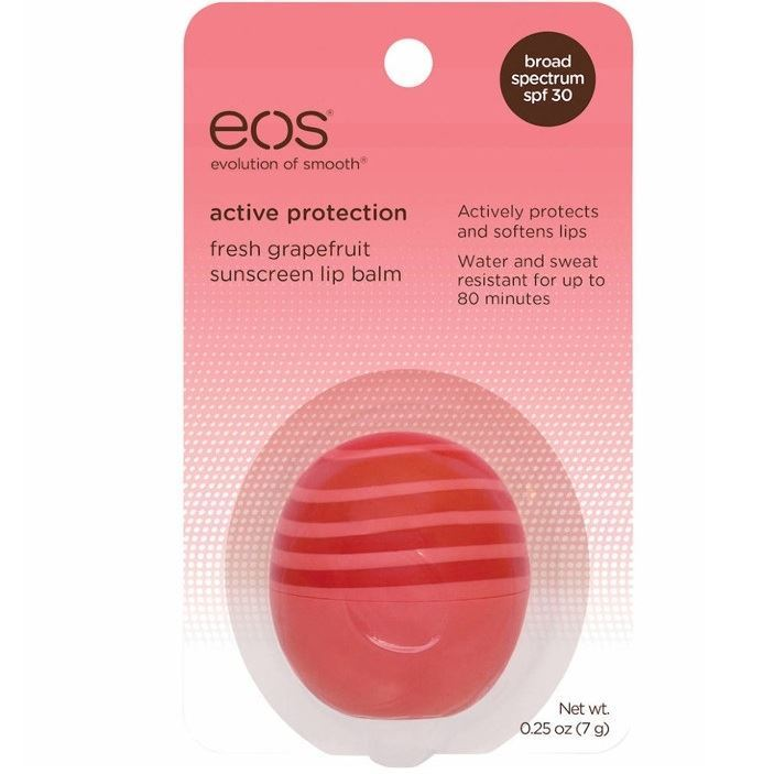 Бальзам Eos Active Protection Lip Balm (Pink Grapefruit, 7 г) hurraw бальзам для губ grapefruit lip balm 4 3 г