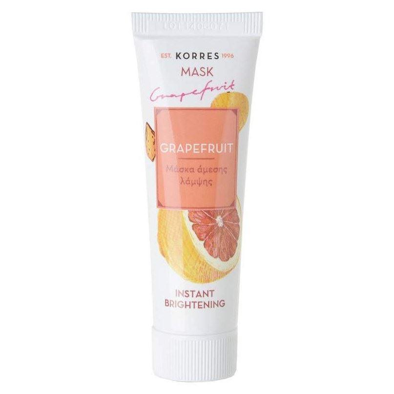 Маска Korres Instant Brightening Mask With Grapefruit 18 мл korres крем маска с дикой розой для интенсивного ночного восстановления 40 мл korres увлажняющие средства