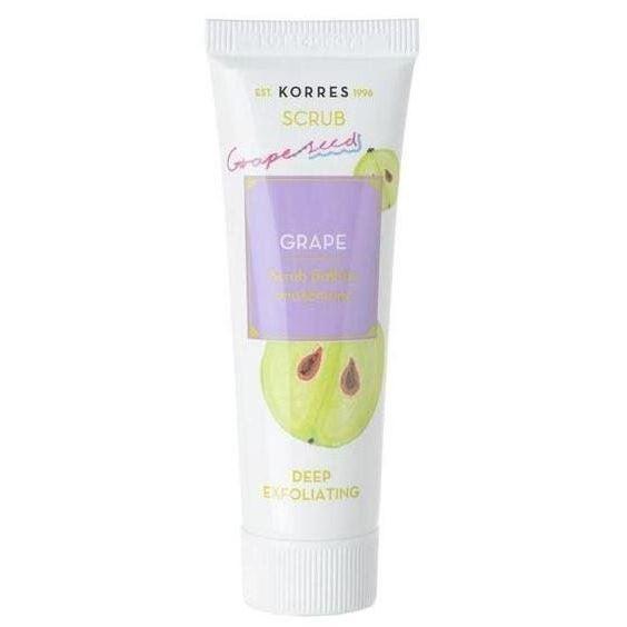 Скраб Korres Grape Deep Exfoliating Scrub 18 мл скраб korres wild rose exfoliating cleanser brightening объем 150 мл