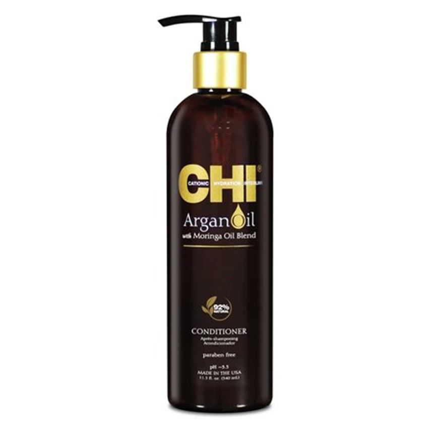 Кондиционер CHI Argan Oil plus Moringa Oil Conditioner 355 мл несмываемый уход защита morocco argan oil спрей для волос блеск и защита nuspa morocco argan oil 100 мл