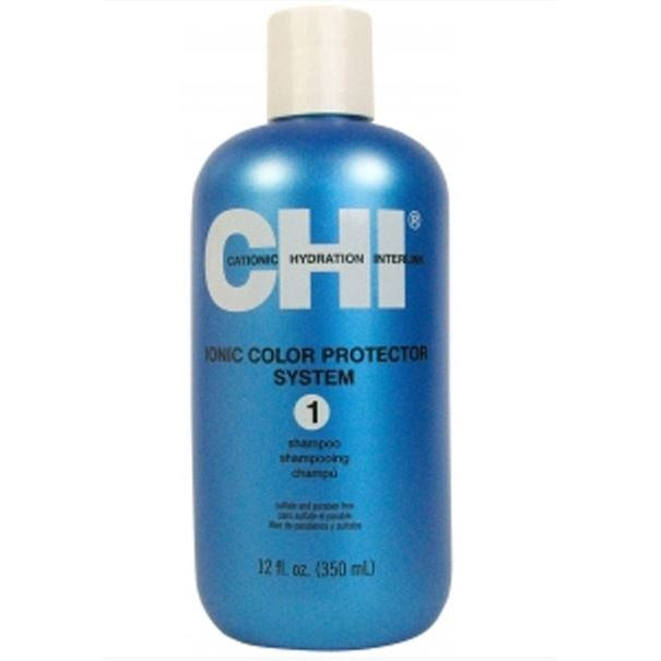 Шампунь CHI Ionic Color Protector System 1 Shampoo концентрат chi ionic permanent shine waves 1 n1 слабая