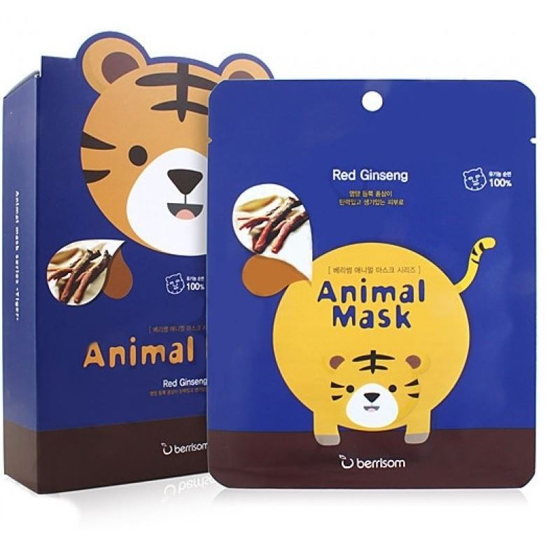 Маска Berrisom Animal Mask Series - Tiger 25 мл тканевая маска bioaqua animal tiger supple mask объем 30 г