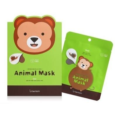 Маска Berrisom Animal Mask Series - Monkey 25 мл тканевая маска bioaqua animal tiger supple mask объем 30 г