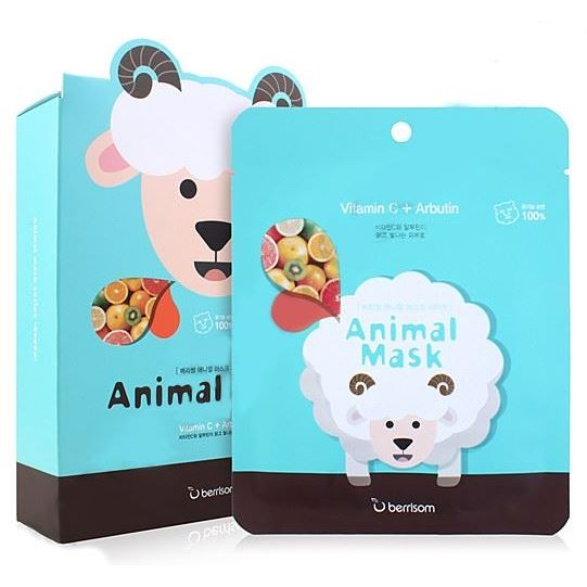 Маска Berrisom Animal Mask Series - Sheep  25 мл тканевая маска bioaqua animal tiger supple mask объем 30 г