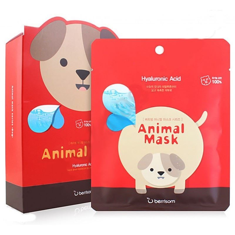 Маска Berrisom Animal Mask Series - Dog 25 мл тканевая маска bioaqua animal tiger supple mask объем 30 г
