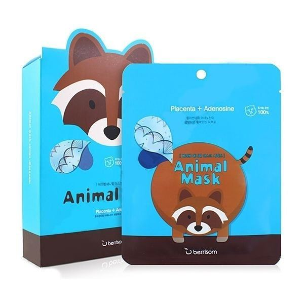 Маска Berrisom Animal Mask Series - Raccoon 25 мл тканевая маска bioaqua animal tiger supple mask объем 30 г