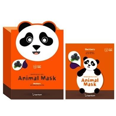 Маска Berrisom Animal Mask Series - Panda 25 мл тканевая маска bioaqua animal tiger supple mask объем 30 г