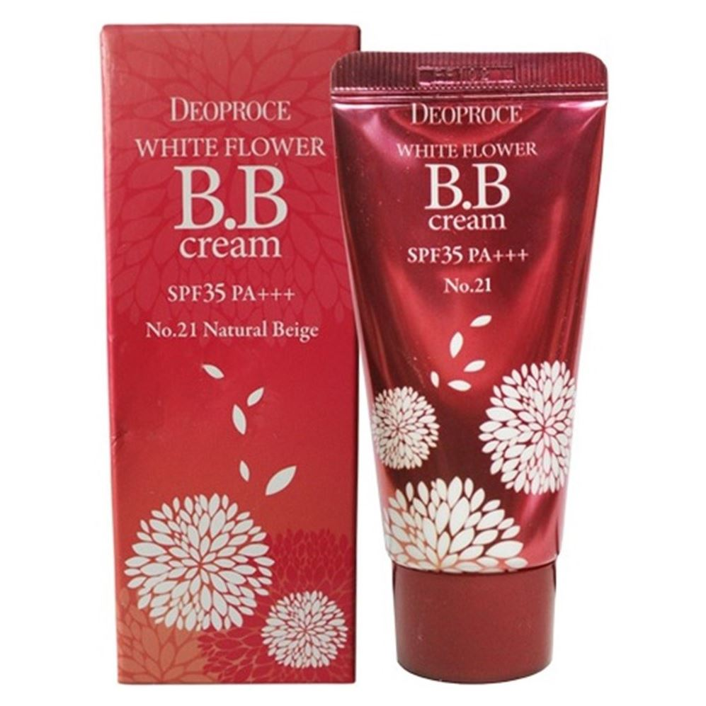 Тональный крем Deoproce White Flower BB Cream SPF35 PA+++ (23) bb крем the face shop photo blur bb cream spf37 pa объем 40 мл