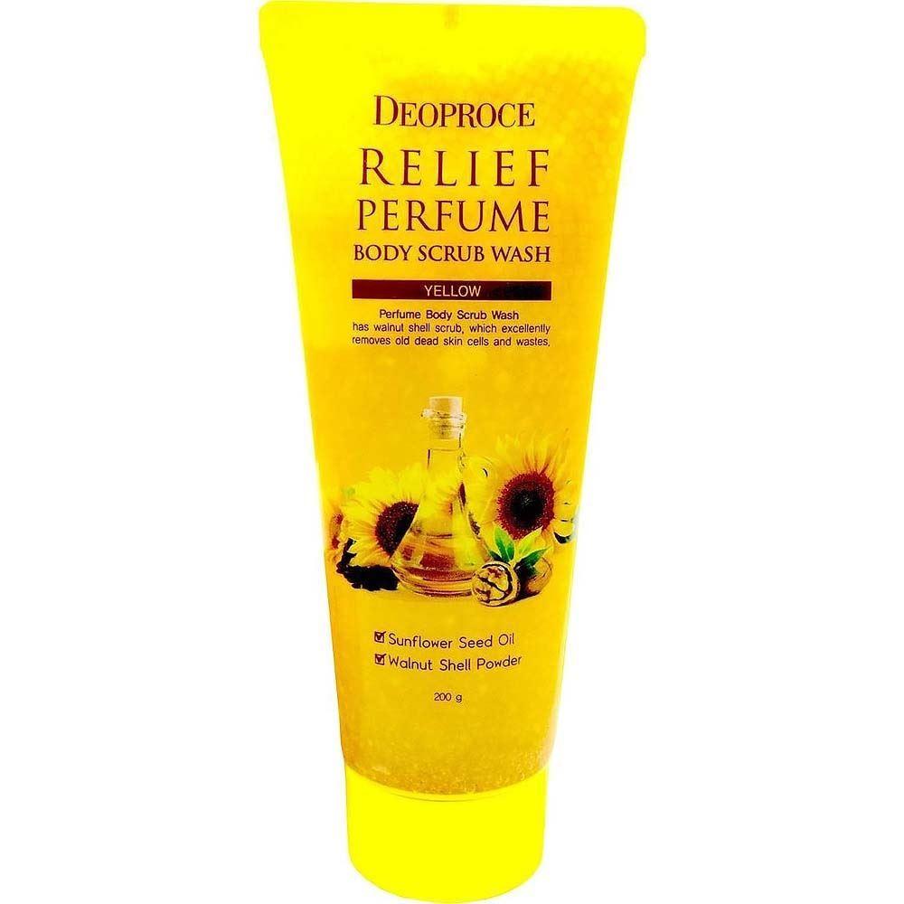 Скраб Deoproce Relief Perfume Body Scrubwash Yellow 200 мл скраб ahava минеральный скраб для тела 200 мл