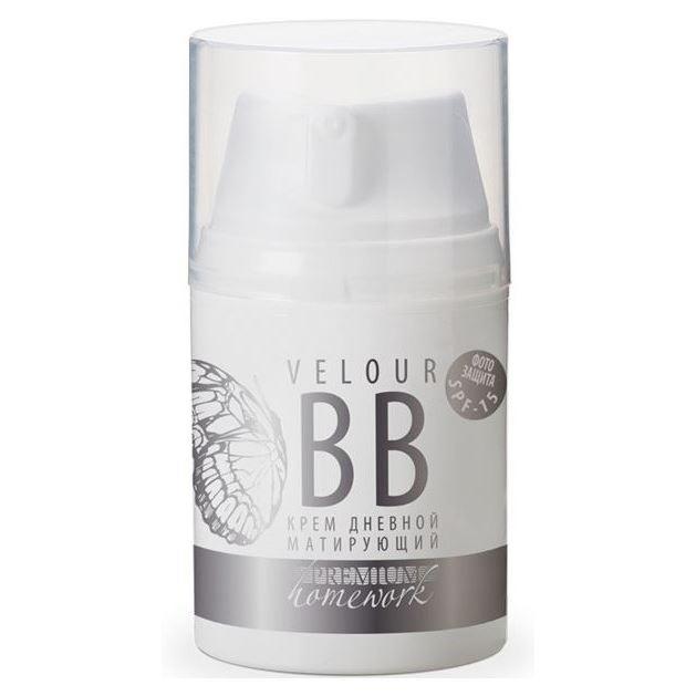 База под макияж Premium Крем дневной матирующий Velour BB  SPF15 50 мл premium premium крем дневной увлажняющий homework гп040112 50 мл