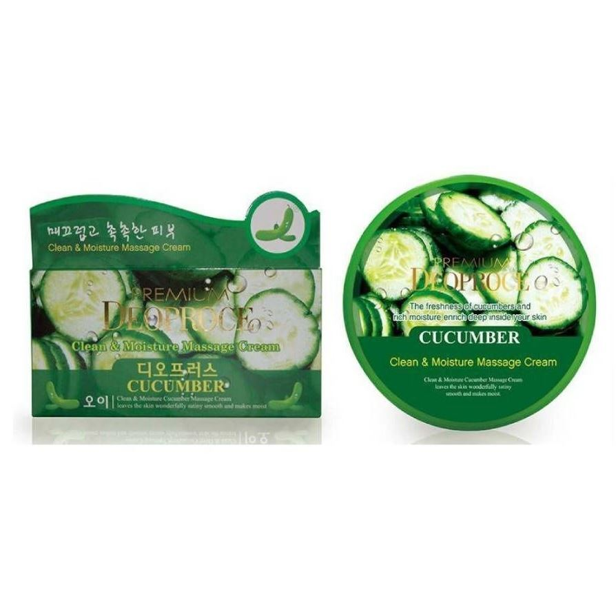 Крем Deoproce Premium Clean & Moisture Cucumber Massage Cream 300 мл крем deoproce cucumber nourishing cream