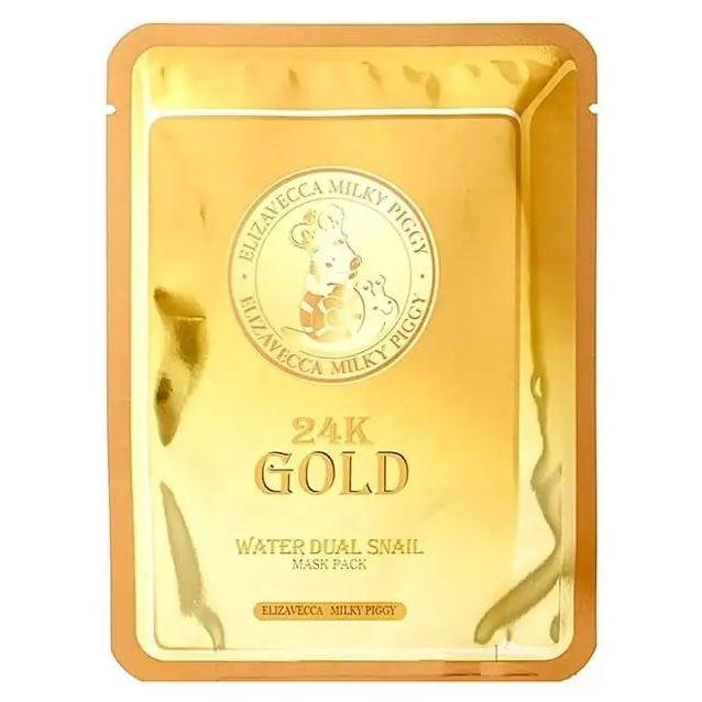Маска Elizavecca 24k Gold Water Dew Snail (1 шт) маска elizavecca water lock hydrogel melting mask 1 шт