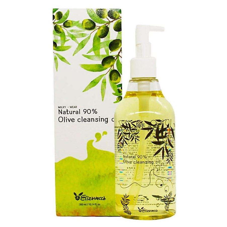 Масло Elizavecca Olive 90% Cleansing Oil 300 мл гидрофильное масло it s skin green tea calming cleansing oil объем 145 мл