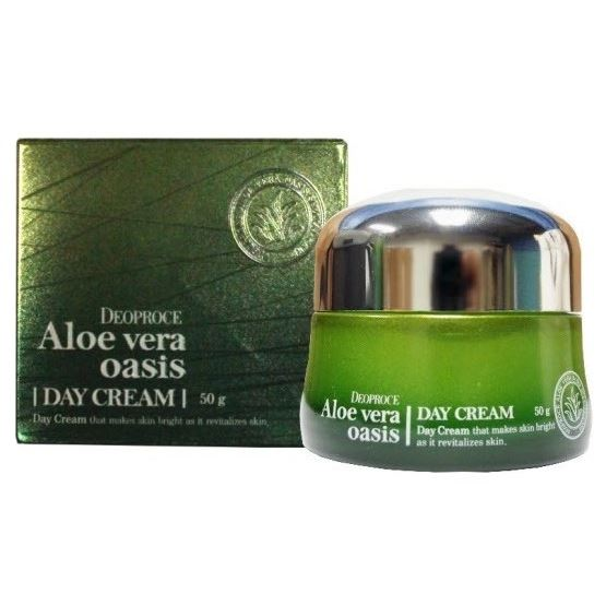Дневной уход Deoproce Aloe Vera Oasis Day Cream 50 мл white cospharm white organia good natural aloe vera hair conditioner кондиционер для волос с алоэ вера 500 гр