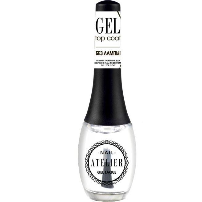 Лак для ногтей Vivienne Sabo Gel Top Coat Nail Atelier 12 мл закрепители для лака isadora верхнее покрытие для гелевого лака для ногтейgel nail lacquer top coat 210 6мл