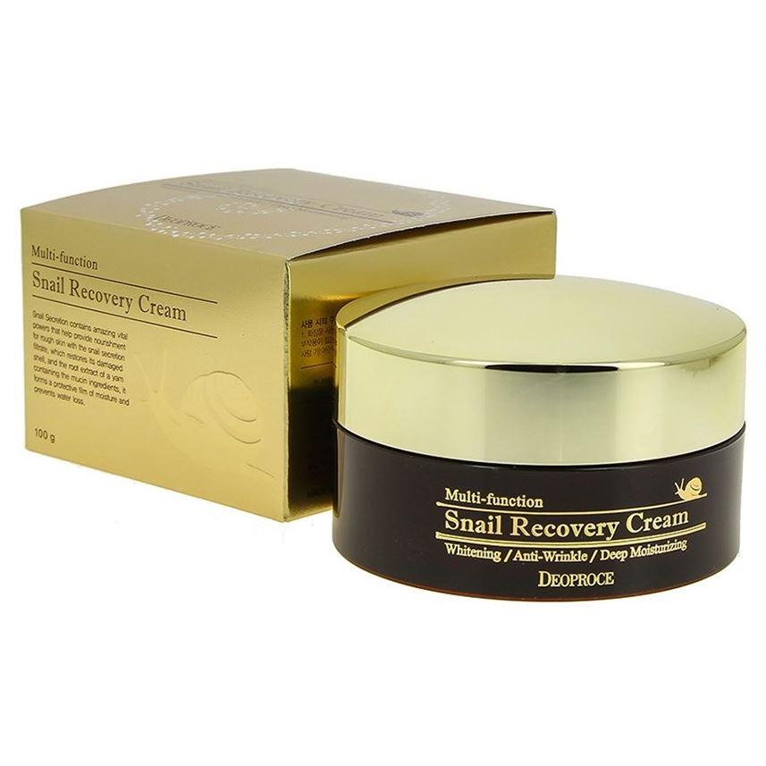 Крем Deoproce Snail Recovery Cream крем beauty style смягчающий крем комфорт с муцином улитки