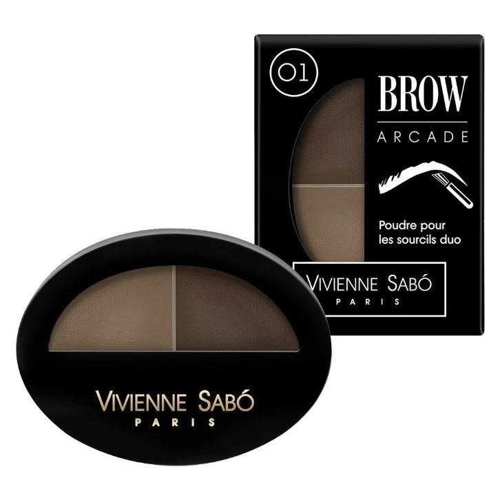 Тени для век Vivienne Sabo Eyebrow shadow Duo Brow Arcade (тон 03) тени vivienne sabo vivienne sabo vi054lwseq82