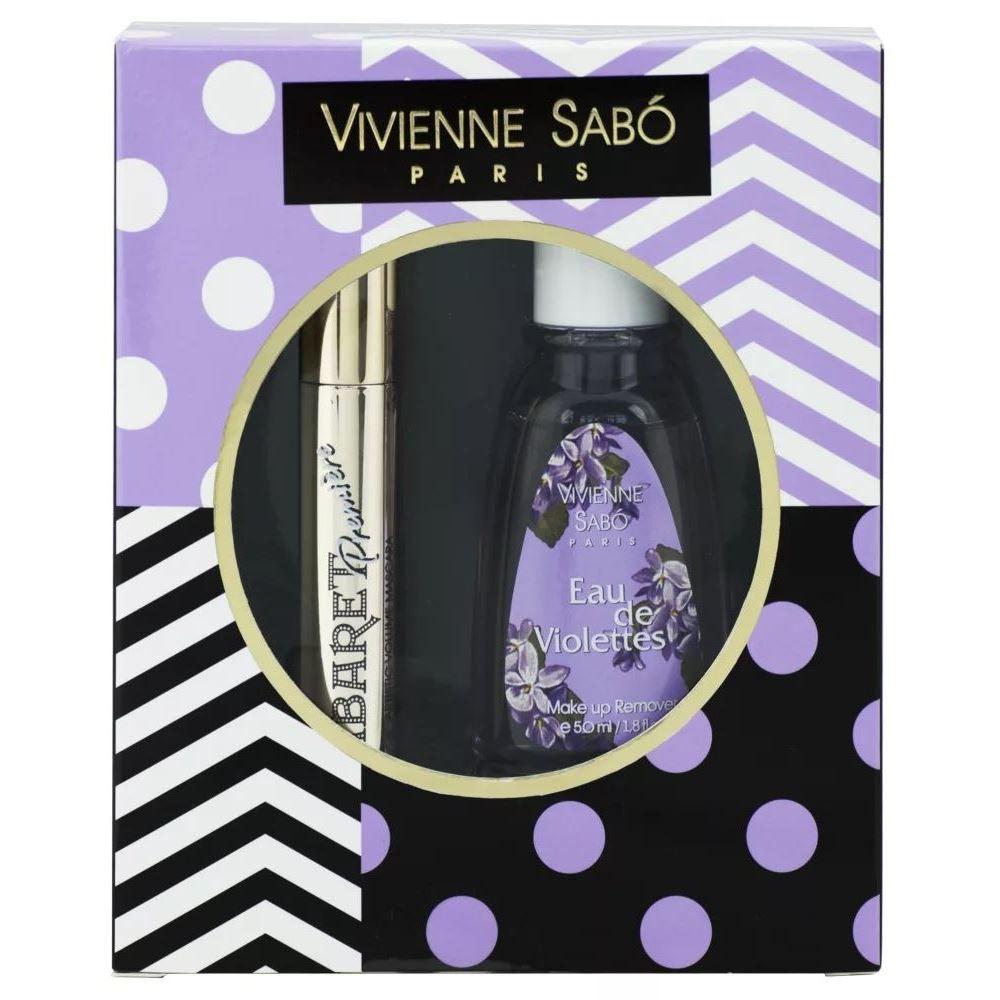 Набор Vivienne Sabo Le Violettes (Набор: тушь, 9 мл + жидкость, 50 мл 2017) тушь для ресниц со сценическим эффектом супер объем водостойкая тон 01 черный cabaret premiere vivienne sabo