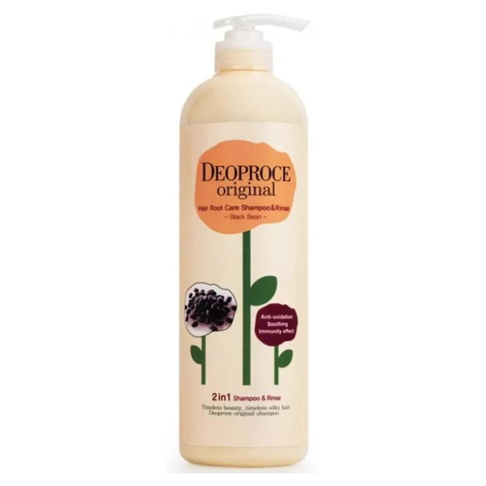 Шампунь Deoproce Original Hair Root Care 2 in 1 Shampoo Black Bean 1000 мл лосьон deoproce silkvill nourishing care face