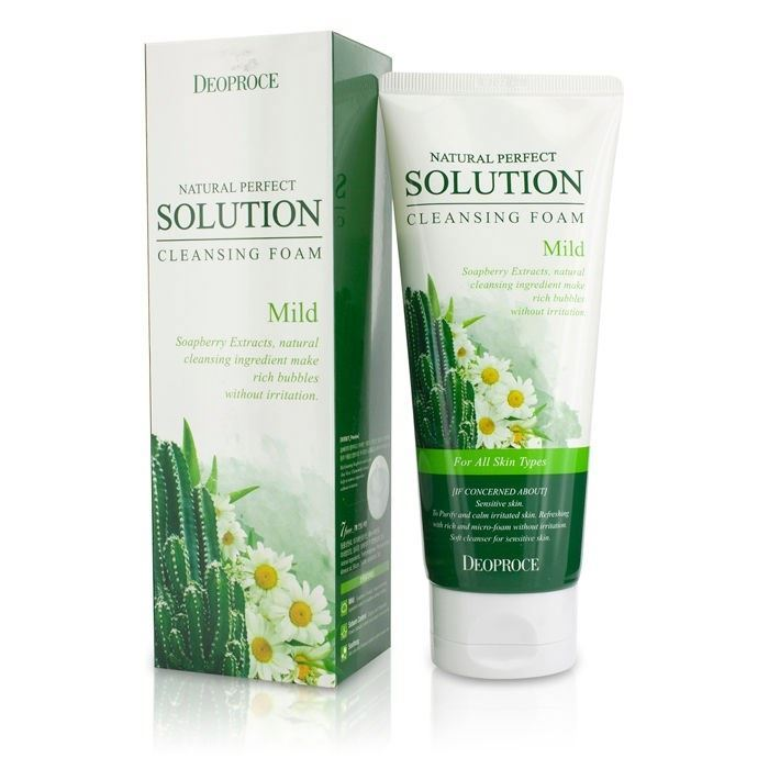 Пенка Deoproce Natural Perfect Solution Mild Cleansing Foam пенка the face shop green tea phyto powder cleansing foam объем 170 мл
