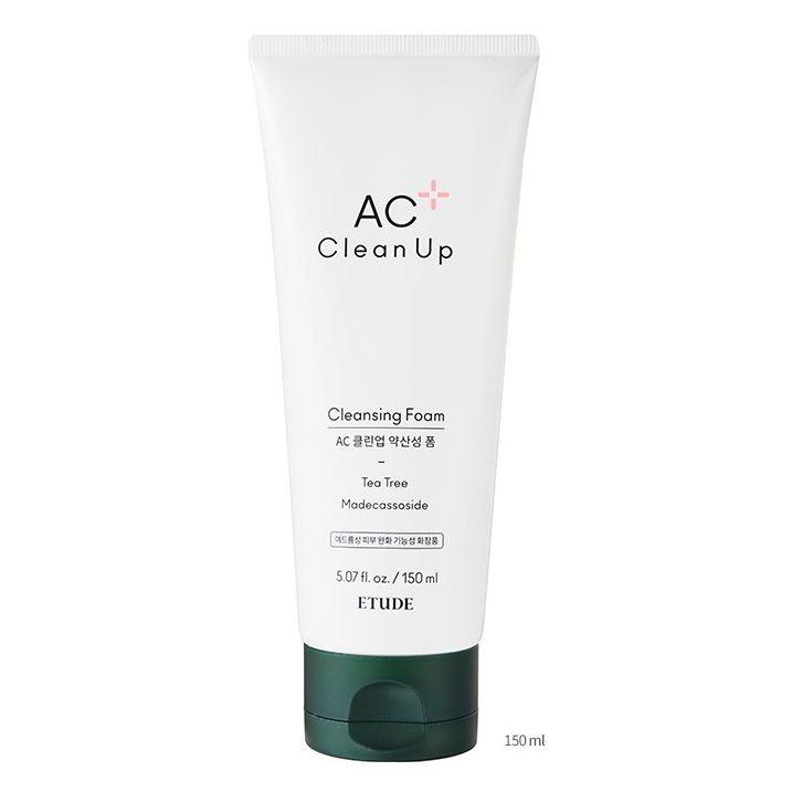 Пенка Etude House AC Clean Up Daily Cleansing Foam perfectly clean универсальное средство для умывания