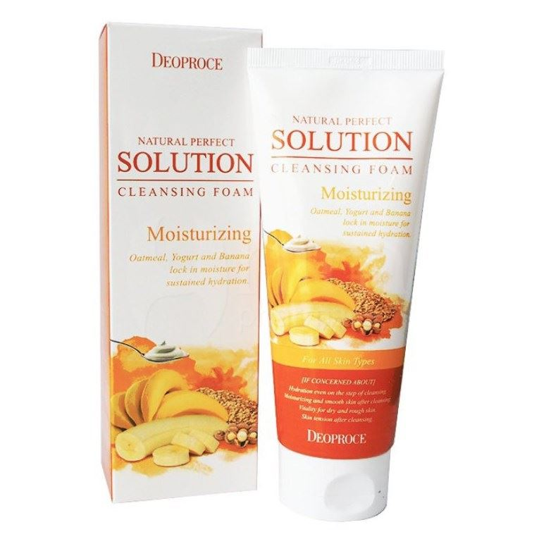 Пенка Deoproce Natural Perfect Solution Cleansing Foam Moisturizing 170 мл deoproce