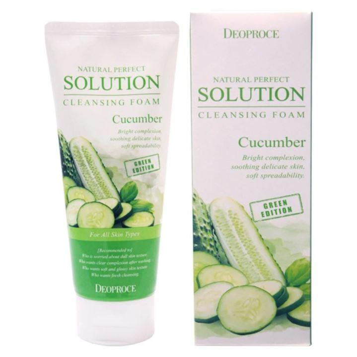 Пенка Deoproce Natural Perfect Solution Cleansing Foam Cucumber пенка deoproce natural perfect solution mild cleansing foam