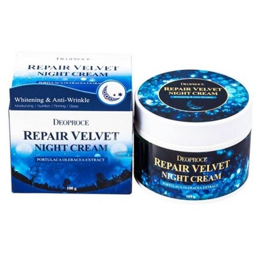 Крем Deoproce Moisture Repair Velvet Night Cream 100 мл лосьон deoproce coenzyme q10 firming lotion