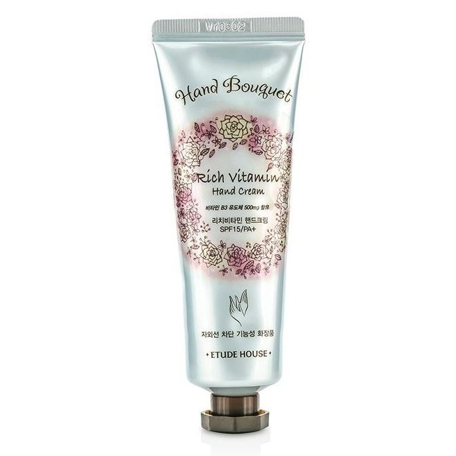 Крем Etude House Hand Bouquet Rich Vitamin Hand Cream SPF 15PA+ 50 мл крем etude house hand bouquet rich butter hand cream