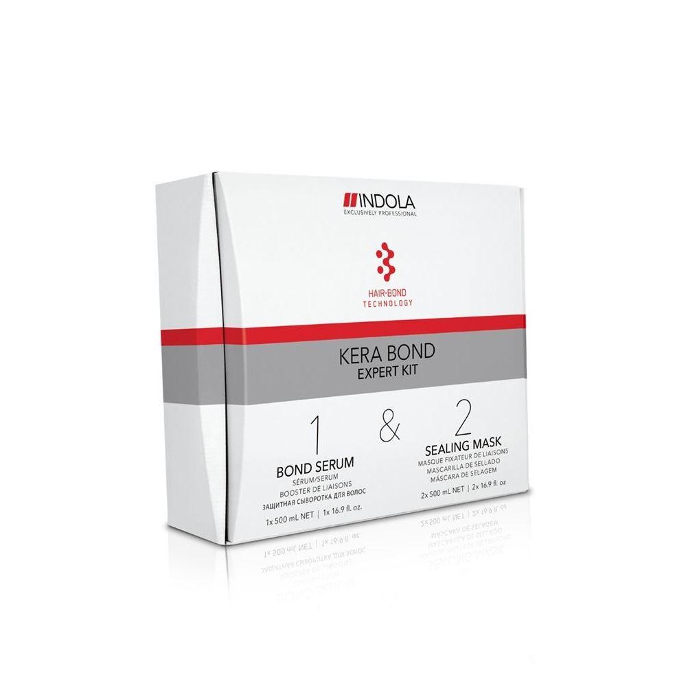 Набор Indola Professional Expert Kit Indola Kera Bond (Набор: сыворотка, 500 мл+маска, 2*500 мл) бальзамы indola бальзам indola keratin straight 150 мл