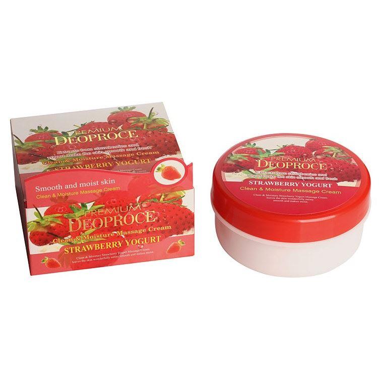 Крем Deoproce Premium Clean & Moisture Strawberry Yogurt Massage Cream 300 мл