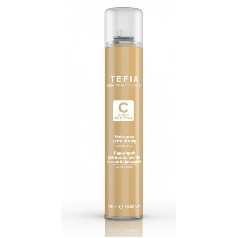 Лак Tefia Hairspray Extra Strong  With D-panthenol 500 мл лак barex hairspray extra strong hold 500 мл