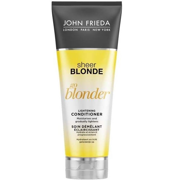 Кондиционер John Frieda Go Blonder Lightening Conditioner 250 мл cocochoco кондиционер для окрашенных волос regular conditioner colour safe 250 мл кондиционер для окрашенных волос regular conditioner colour safe 250 мл 250 мл