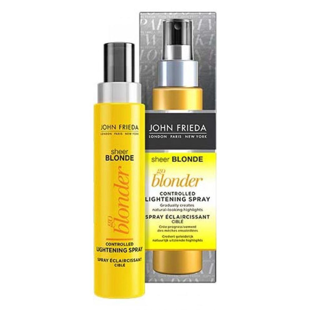 Спрей John Frieda Go Blonder Controlled Lightening Spray 100 мл john frieda кондиционер осветляющий для натуральных мелированных и окраш волос sheer blonde go blonder 250 мл