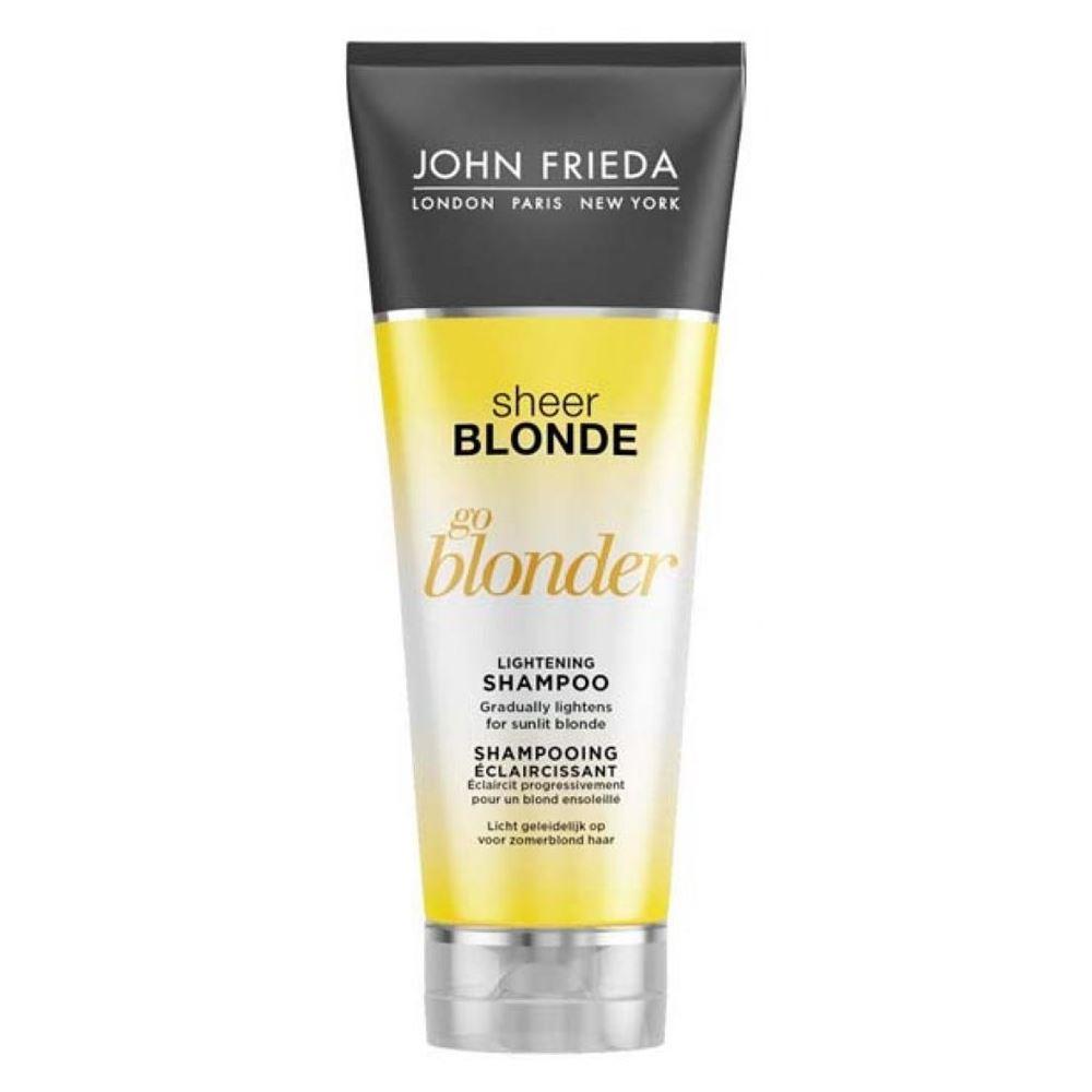Шампунь John Frieda Go Blonder Lightening Shampoo 250 мл john frieda кондиционер осветляющий для натуральных мелированных и окраш волос sheer blonde go blonder 250 мл