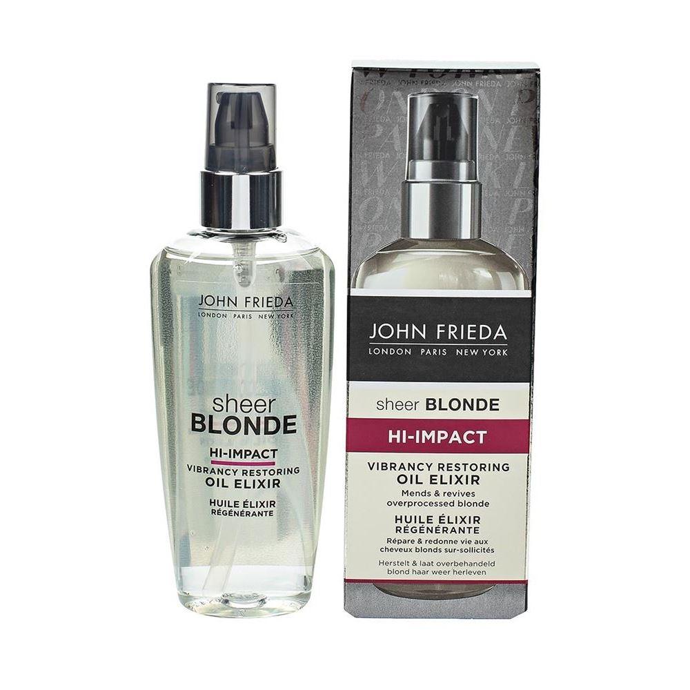 Масло John Frieda Hi-Impact Vibrancy Restoring Oil Elixir 100 мл kativa argan oil elixir масло защитное для волос эликсир арганы 30 мл