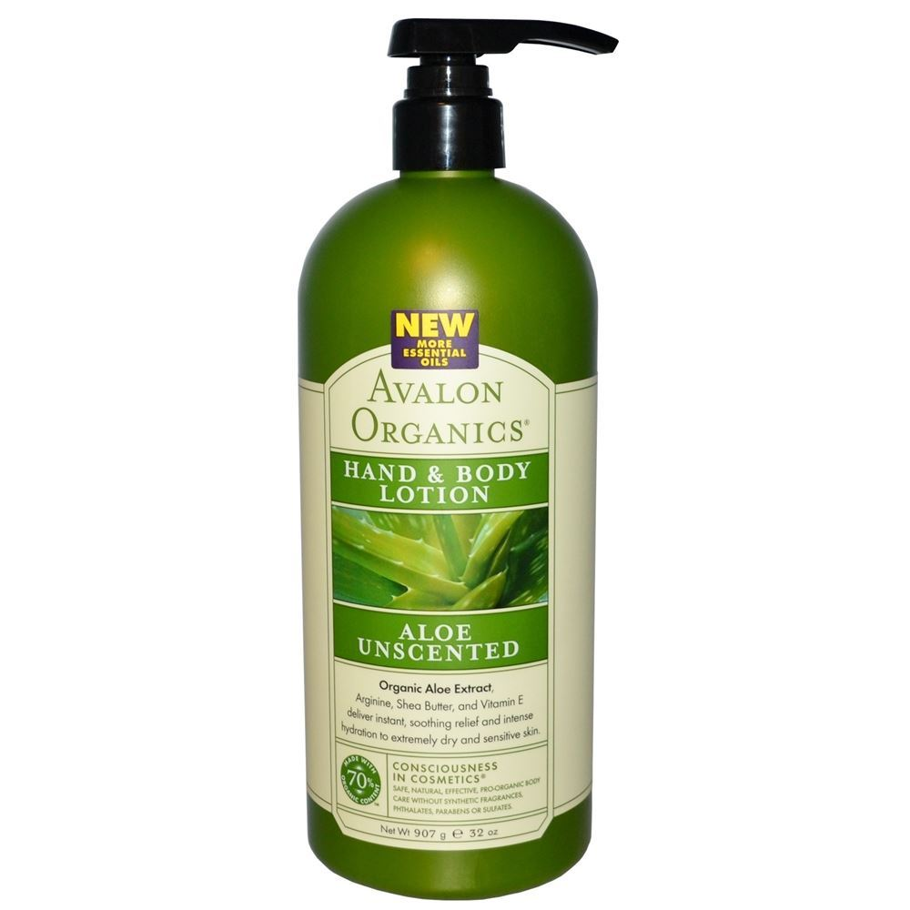 Лосьон Avalon Organics Aloe Unscented Hand & Body Lotion logona daily care body lotion organic aloe verbena объем 200 мл